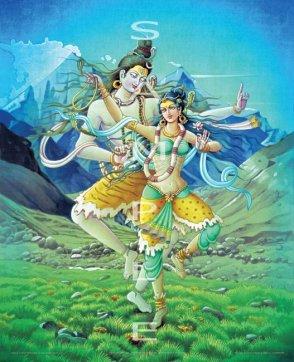 Im kosmischen Tanz vereinigen sich die Energien von Shiva und Shakti explosionsartig - und Schöpfung geschieht
