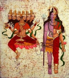 Durch sechs Chakras steigt Kundalini auf, um im siebten mystische Hochzeit zu feiern