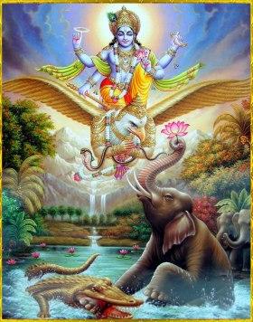 Vishnu rettet Gajendra