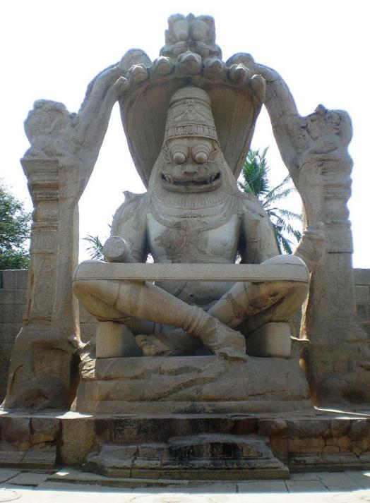 15th century Monolithic Sri Narasimha, Hampi