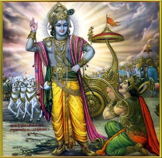 Krishna und Arjuna