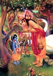 Krishna als Baby