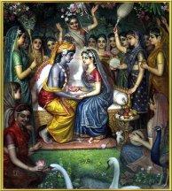 Krishna und Radha heiraten