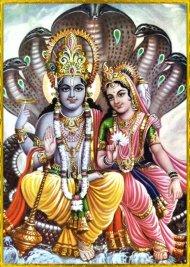 Vishnu und Lakshmi