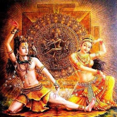 Shiva und Shakti im kosmischen Tanz