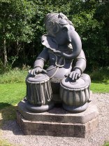 Ganesha musizierend