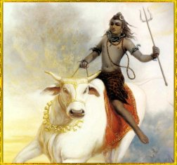 Shiva auf Nandi, dem Stier
