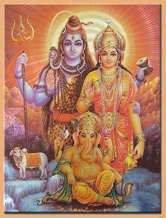 Shiva, Parvati und Ganesha
