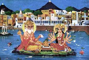 Brahma mit Gayatri
