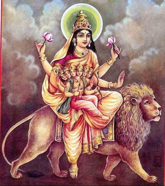 Fünter Aspekt der Durgha Skanda Mata