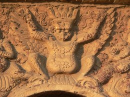 Garuda on a pagoda at the Zhenjue Temple, also known as the Five Pagoda Temple, in Beijing, China