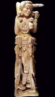 Indische Lakshmi-Statue, ausgegraben in Pompei