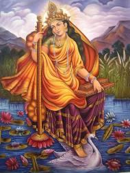 Saraswati auf dem Schwan