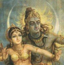 Tanz des Shiva mit Parvati