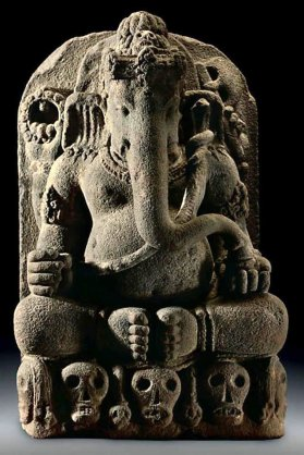 Stone Sculpture of Ganesha Central Java c. 9th-10th Century