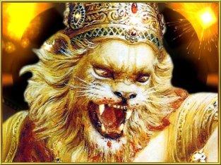 Narasimha will den Dämonen töten