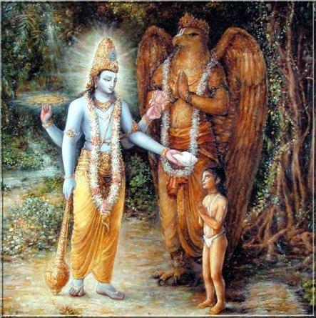 Vishnu mit Garuda
