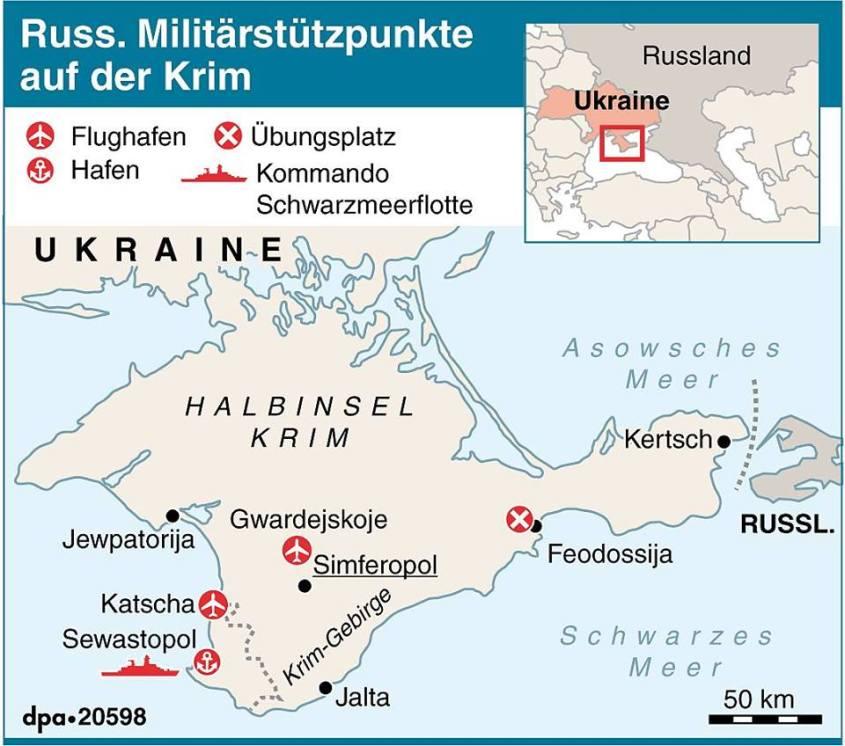 Russische Militärstützpunkte auf der Krim