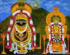 Shiva und Shakti stilisiert