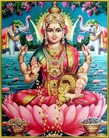 Lakshmi und Ganesha fördern geschäftlichen Erfolg.