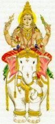 Lakshmi auf Ganesha