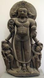 Four-headed Vaikuntha chaturmukha (Shri Vishnu) from Kashmir