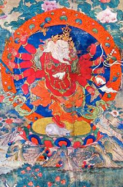 Ganapati as depicted in Vajrayana sect of Buddhism