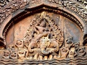 Indra und Airavata, Banteay Srei Tempel, Kambodscha