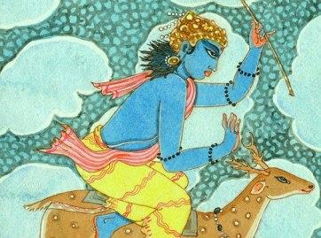 The Rig Veda describes Vayu (Pavan) as a beautiful storm-god associated with Indra in ruling the atmosphere - Prana im menschlichen Körper, ein Heiler