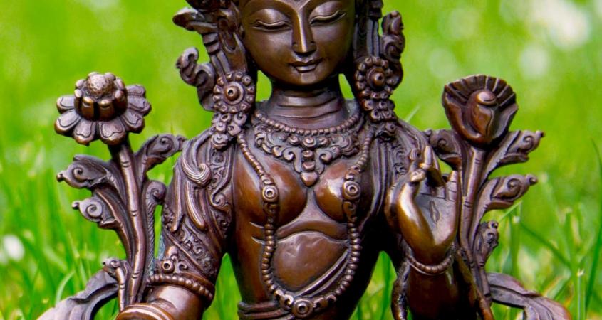 Grüne Tara - weiblicher Buddha des Mitgefühls